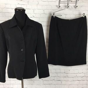 Le Suit Black Career Skirt Suit Jacket EUC Sz. 14P